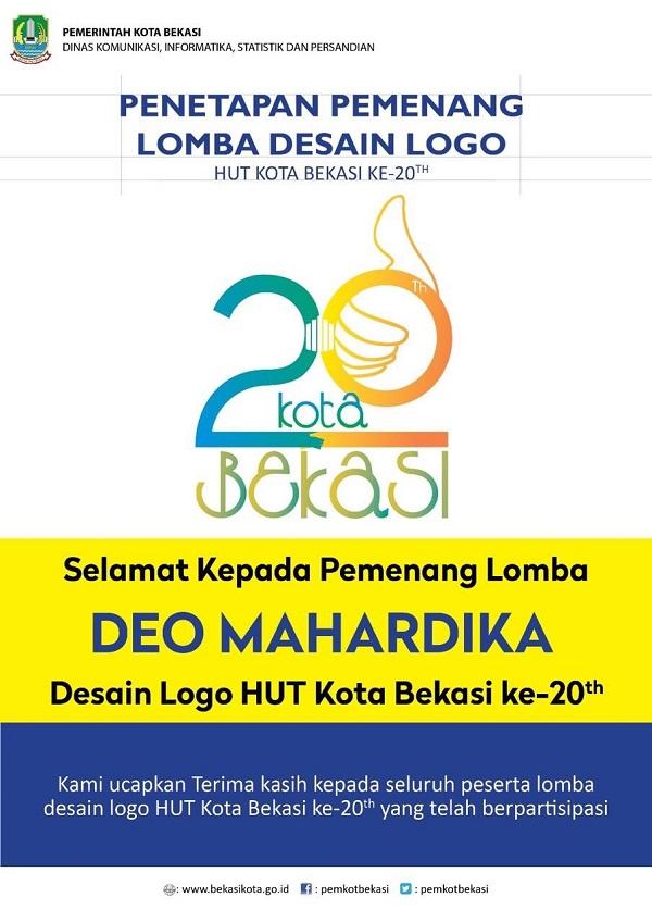 Desain Logo Hut Ke 20 Kota Bekasi Resmi Dirilis Info Bekasi